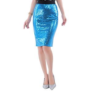 Hình đại diện sản phẩm Váy Nữ Kim Sa Lưng Thun Dáng Ôm - Xanh Bích