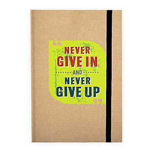 Hình đại diện sản phẩm Sổ Bìa Cứng - Never Give In And Never Give Up