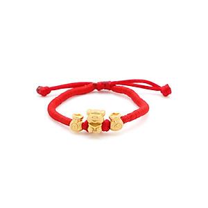 Hình đại diện sản phẩm Vòng Tay Handmade Vàng 24K Kim Hợi Phối Túi Tiền - ANCARAT