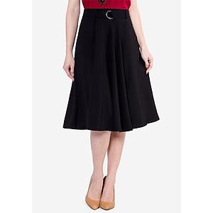 Hình đại diện sản phẩm Chân Váy Dáng Xòe Nữ Đỉa Luồn Dây VDS2472DE7 Màu Đen