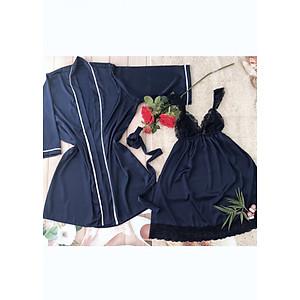 Hình đại diện sản phẩm Váy ngủ, Váy ngủ lụa, Váy ngủ hai dây, váy ngủ gợi cảm – Váy Ngủ DREAMY + tặng quần chip xinh xắn