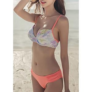 Hình đại diện sản phẩm Bikini 2 Mảnh Gợi Cảm - Bikini 3 Mảnh Cam Áo Khoác Dài Tay
