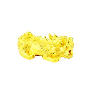 Hình đại diện sản phẩm Charm vàng 24K Tỳ Hưu Tụ Lộc size Tiểu Ancarat - Miễn Phí vòng tay Handmade đi kèm