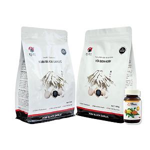 Hình đại diện sản phẩm Combo 2 Thực phẩm chức năng Tỏi Đen Kobi 500G Và 1 Hũ Kobi Turmeric (Nano Curcumin)