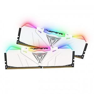 Hình đại diện sản phẩm Bộ 2 thanh Ram Patriot Viper RGB 16GB (2x8GB) DDR4 3000 CL15 – WHITE heat sink