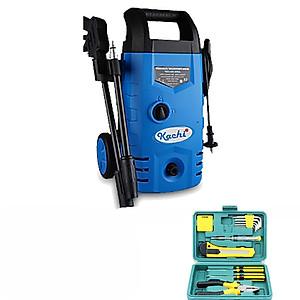 Hình đại diện sản phẩm Combo máy phun xịt cao áp rửa xe Kachi MK70 (1400W) + Bộ dụng cụ sửa chữa 12 món