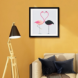 Hình đại diện sản phẩm Inkfish diamond painting 8328 Flamingo full diamond full diamond embroidery new cross stitch animal brick painting bedroom living room modern minimalist decorative painting