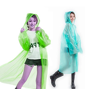 Hình đại diện sản phẩm Yello mystery (yeluomi) disposable raincoat four-button buckle thick poncho outdoor hiking travel poncho men and women rain gear reusable YM2YY four-color random hair