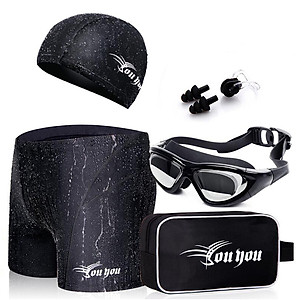 Hình đại diện sản phẩm Combo Đồ Bơi Nam Youyou Z25155: Quần Bơi + Mũ Bơi + Kính Bơi + Bịt Mũi + Kẹp Tai + Túi Đựng