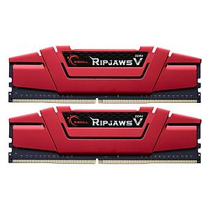 Hình đại diện sản phẩm Bộ 2 Thanh RAM PC G.Skill F4-2666C15D-8GVR Ripjaws V 4GB DDR4 2666MHz UDIMM XMP - Hàng Chính Hãng
