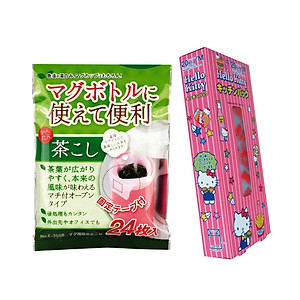 Hình đại diện sản phẩm Combo Đồ Dùng Nhà Bếp: Set 24 Túi Lọc Trà, Cà Phê Có Băng Keo Cố Định + Set 20 Túi Ni Lông Đựng Thực Phẩm Cao Cấp - Nội Địa Nhật Bản