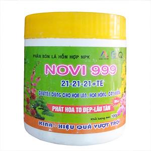 Hình đại diện sản phẩm Phân bón cây tốt lá nhiều hoa Novi 999 npk 21-21-21 +TE (100g)