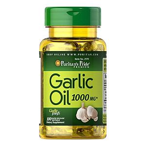 Hình đại diện sản phẩm Thực Phẩm Chức Năng - Dầu Tỏi Tăng Cường Hệ Miễn Dịch, Hỗ Trợ Phòng Ngừa Cảm Cúm, Giảm Cholesterol Garlic Oil 1000Mg (100 Viên)