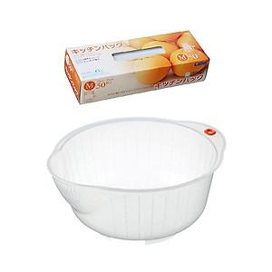 Hình đại diện sản phẩm Combo Giá vo gạo nội địa Nhật Bản (23cm) + Túi Ni Lông Đựng Thực Phẩm (50 Túi / Hộp) - Nội Địa Nhật Bản