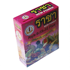 Hình đại diện sản phẩm Phân bón kích thích ra hoa đậu trái Raja 6-32-32 plus Thái Lan (hộp 1kg)