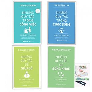 Hình đại diện sản phẩm Combo Những Quy Tắc Trong Công Việc + Những Quy Tắc Để Sống Khỏe + Những Nguyên Tắc Để Giàu Có + Những Quy Tắc Trong Cuộc Sống - (Tặng Bookmark PĐ)