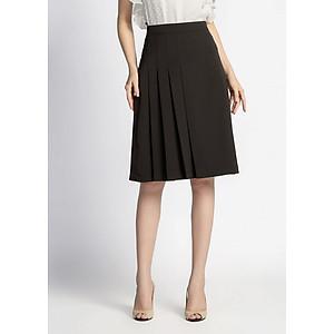 Hình đại diện sản phẩm Chân Váy A Xếp Li Lệch De Leah - Đen