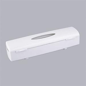 Hình đại diện sản phẩm Plastic Wrap Dispenser with Cutter Plastic Wrap Dispenser High Quality Cling Wrap Food Cutter Holders Tool