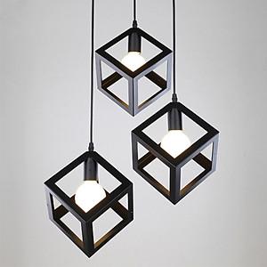 Hình đại diện sản phẩm Combo bộ 3 đèn thả khối vuông trang trí nội thất, trang trí cafe kèm bóng LED