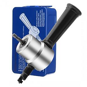 Hình đại diện sản phẩm Đầu cắt tôn gắn vào máy khoan (có hộp thiếc). Trọn bộ dụng cụ cắt tôn, tặng kèm 1 đầu cắt dự phòng + 1 đũa cắt dự phòng