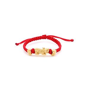 Hình đại diện sản phẩm Vòng Tay Handmade Vàng 24K Tỳ Hưu Thụ Lộc Túi Tiền - ANCARAT