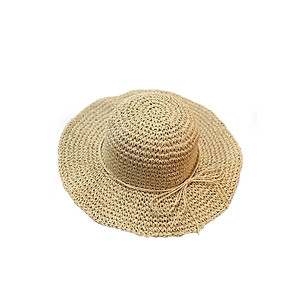 Hình đại diện sản phẩm Mũ cói đi biển mũ cói mền dây nơ cói phong cách Vingtage M18-13