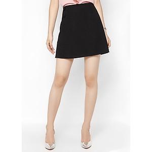 Hình đại diện sản phẩm Chân Váy Cúc Bọc De Leah - Đen