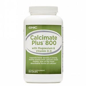 Hình đại diện sản phẩm Thực Phẩm Chức Năng Bảo Vệ Sức Khỏe Hỗ trợ bổ sung canxi GNC Calcimate Plus 800 Chai 240 viên
