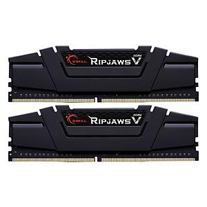 Hình đại diện sản phẩm Bộ 2 Thanh RAM PC G.Skill F4-3200C16D-16GVKB Ripjaws V 8GB DDR4 3200MHz UDIMM XMP - Hàng Chính Hãng