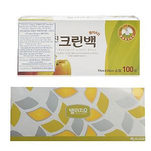 Hình đại diện sản phẩm Combo Bộ 100 túi đựng thực phẩm Myungjin sinh học (size 17 x 25cm) + Giấy ăn hộp Bellagio Monalisa cao cấp Hàn Quốc 180 tờ (Màu ngẫu nhiên)