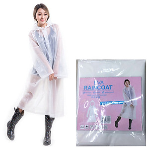 Hình đại diện sản phẩm Yello mystery (yeluomi) EVA long hooded raincoat raincoat translucent frosted poncho outdoor hiking travel non-disposable poncho men and women rain gear reusable