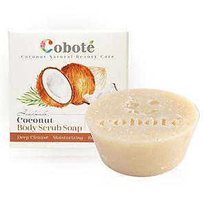 Hình đại diện sản phẩm Xà bông dừa Tẩy tế bào chết Coboté - Hương dừa -Handmade - 100% thiên nhiên - Công thức dừa toàn phần