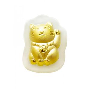Hình đại diện sản phẩm Mặt dây Phỉ thúy dát vàng 24K Mèo Chiêu Tài - Ancarat