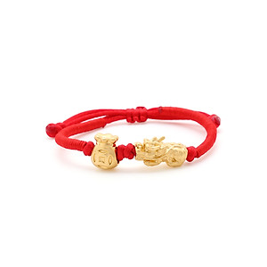 Hình đại diện sản phẩm Vòng Tay Handmade Vàng 24K Tỳ Hưu Thụ Tiền - ANCARAT
