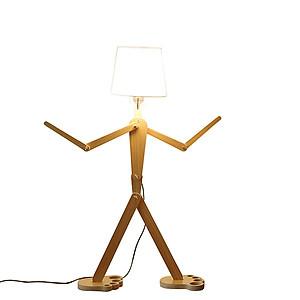Hình đại diện sản phẩm Đèn sàn gỗ - đèn đứng - đèn trang trí phòng khách - đèn phòng ngủ HUMANS Decor