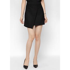 Hình đại diện sản phẩm Chân Váy Vạt Lệch De Leah - Đen