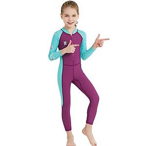 Hình đại diện sản phẩm Bộ bơi liên dài tím tay xanh bé gái từ 2 đến 11 tuổi