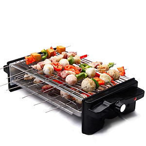 Hình đại diện sản phẩm Kleibi Household Smoke Free Electric Barbecue Grill Barbecue Grill Barbecue Machine Korean Teppanyaki Double Roast Barbecue Grill Board Upgrade Bakery KLB9055