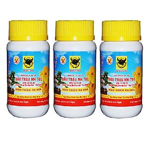 Hình đại diện sản phẩm Bộ 3 lọ phân bón lá Đầu Trâu kích thích ra hoa và giúp đậu trái MK 701 (3 hũ x 100g)