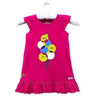 Đầm Xòe Tay Bèo Bé Gái Kavio Kids GS38-N1 - Hồng Đậm