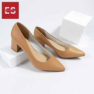 Giày cao gót Erosska thời trang mũi nhọn gót vuông kiểu dáng cơ bản cao 5cm EP011