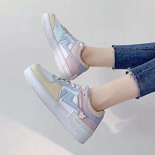 Giày thể thao sneaker nữ viền màu thời trang phong cách nữ tính