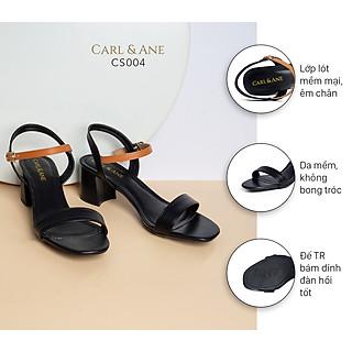 Giày sandal Erosska thời trang nữ mũi vuông phối dây nhiều màu tinh tế cao 5cm CS004
