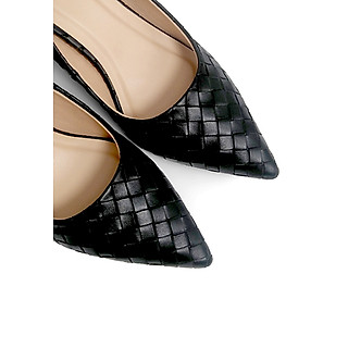 Giày Cao Gót Công Sở 6cm Đệm Mút Sulily màu đen mang êm chân G01-IV20DEN