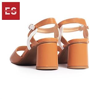 Giày Nữ, Giày Cao Gót Erosska Cao 5 cm Mũi Vuông Thời Trang Thiết Kế  Sang Trọng EB002 Màu Nâu