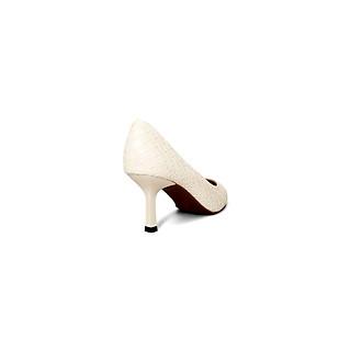 Giày Cao Gót Công Sở 6cm Đệm Mút Sulily màu trắng mang êm chân G01-IV20TRANG