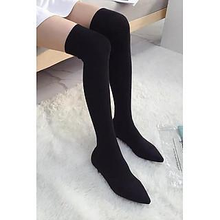 Giày Boot Đùi Len