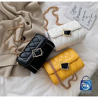 Túi đeo chéo trần trám khóa kính nghiêng thời trang