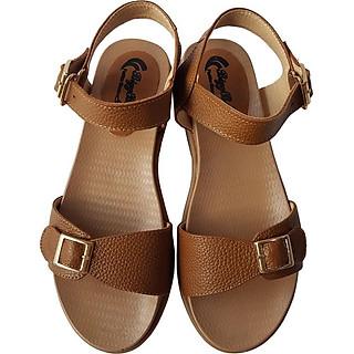 Giày Sandal Nữ BIGGBEN Da Bò Thật SDN57