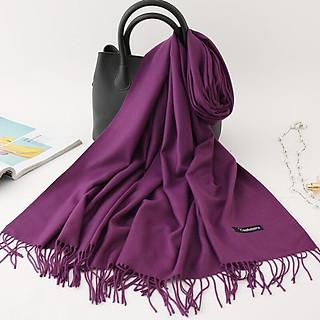 Khăn quảng cổ chất len dệt mịn thời trang - Kem